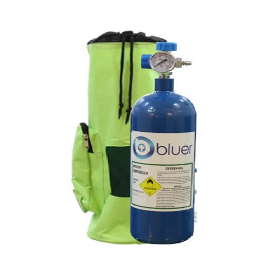 کپسول اکسیژن همراه 2/5 لیتری bluer